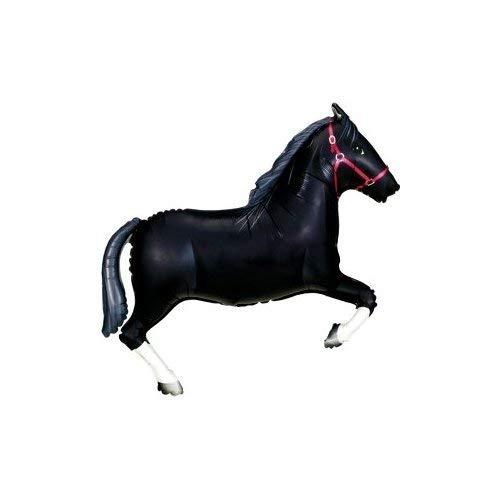 BALLOONSHOP Cavallo Nero Supershape Foil Palloncino