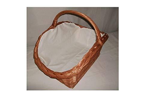 Rattan im Trend Holzkorb aus Weide sehr stabile Ausführung Farbe braun