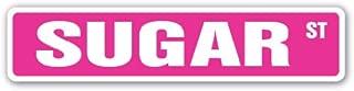 SUGAR Street Sign sweet sugarcane candy bakery refinery | Indoor/Outdoor | 36
