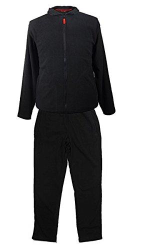 Echte grote maten knuffelig fleece joggingpak Mark & Mark zwart 2XL - 10XL