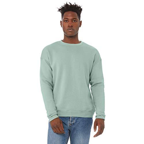 Bella + Canvas Unisex Adult Fleece Drop Shoulder Sweatshirt (M) (Dusty Blue)