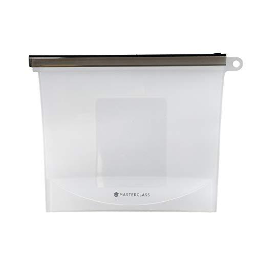 MasterClass Bolsa de Comida Hermética Reutilizable de Silicona Libre de BPA 1L