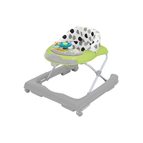 Bieco Baby Lauflernwagen Grau/Grün - Kippsicheres Activity Spiel-Center mit Melodien und Rasseln als Walker höhenverstellbar, als Lauflernhilfe empfohlen, ab 6 Monaten, Artnr 19004405