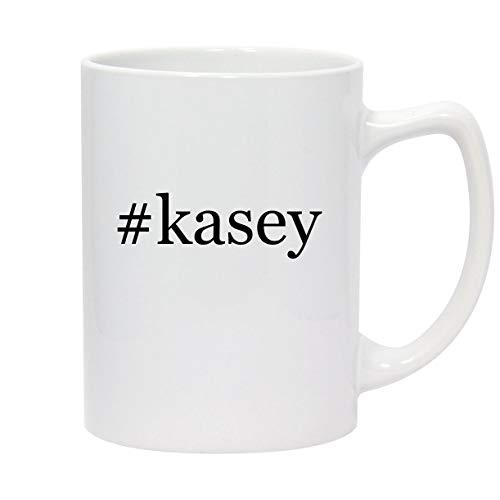 #kasey - 14oz Hashtag White Ceramic Statesman Coffee Mug