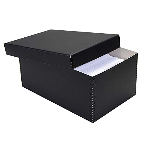 Lineco Black Photo Snapshot Photo, Card, File Box Removable Lid 5'x7'x12'....