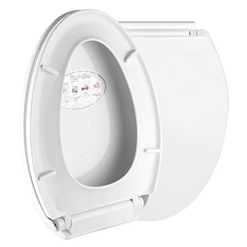 Vivarry Toilettensitz, intelligenter Toilettensitz, verlängerter Toilettensitz, offener Toilettensitz vorne, tragbarer Hilfskommodensitz, Umgebungsnachtlicht