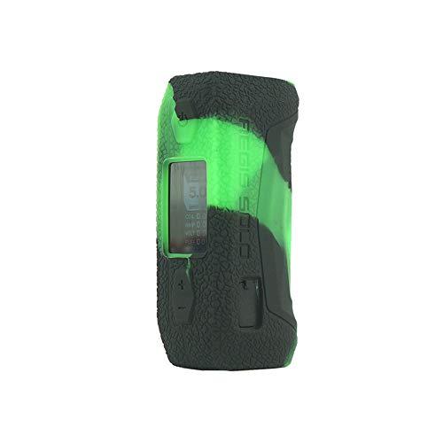 CEOKS for GeekVape aegis Solo 100W Silicone Case, Anti-Slip Protective Silicone Case Skin Rubber Cover for GeekVape aegis Solo 100W Vape Box Rubber case wrap Shield (Black/Green)
