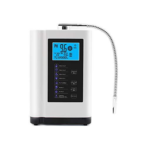 XSGDMN Alkalische Wasserfilter-, Wasser-Ionisator- und Wasseraufbereitungsmaschine mit automatischer Reinigungsfunktion, intelligente Stimme, Alkalische Säure-Wassermaschine PH 4-10