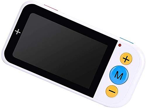 Lupa digital de mano, 4,3 pulgadas portátil de lectura electrónica lupa con luz - 2X-32X de zoom de 12 colores de lectura Lupas de ayuda for la ayuda visual de lectura con deficiencias Pasatiempos, le