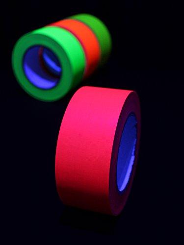 UV lumière noire neon ruban adhésif en tissu 50 mm x 25 m (r