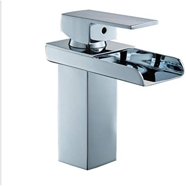 BTSSA Wasserhahn für Badezimmer, Wasserhahn für Waschbecken im Badezimmer, Einlochmischer für warmes und kaltes Wasser, Rührschraube