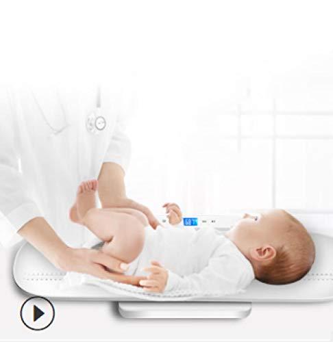 FDSHOSFH Baby weegschaal baby elektronische weegschalen, huisdier weegschalen, USB opladen, multifunctionele hoge precisie elektronische moeder en kind weegschalen 50G-100KG kan lichaamslengte, wit meten