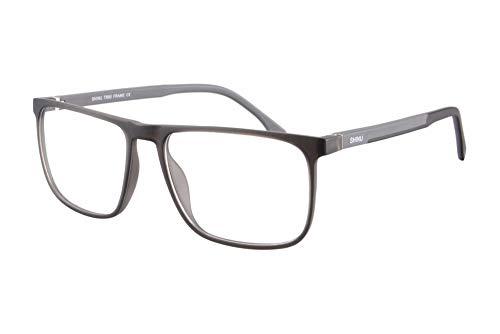SHINU TR90 Luz Azul Anti Gafas de Ordenador Hombres Mujer Multi Atencion Progresivo Multifocal Gafas de Lectura-RMG78(C5-up+0.00,down+1.75)