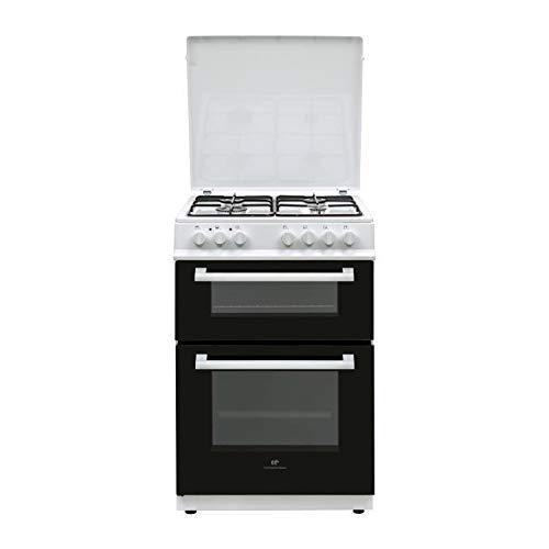 Cuisiniere gaz 60x60 Double fours électrique Multi cata + CN - 4 feux blanc