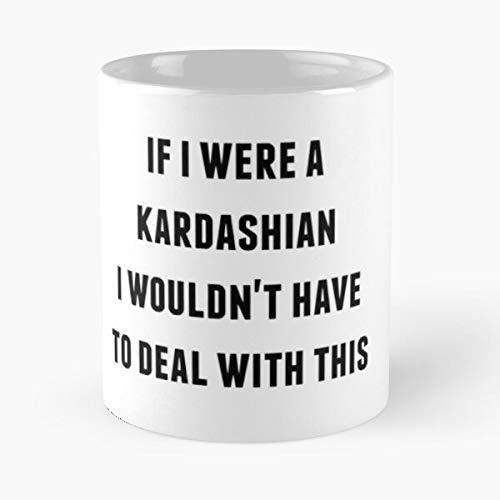 The Kardashian Keeping with Cosmetics Kim Kylie King Jenner Kardashians Up Taza de café con Leche 11 oz