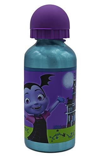 ML Botella de Agua de Aluminio para niños y niñas, 0.4 L cantimplora térmica a Prueba de Fugas sin BPA para Levar a la Escuela y Deportes el Termo/400 (Morado, 400ml)