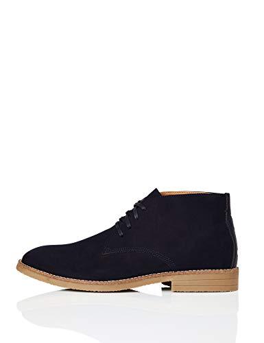 find. Albie Heavy Rand Desert Boots, Blau (Navy), 44 EU