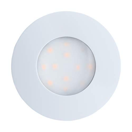EGLO LED Einbauleuchte Pineda-IP, Einbaulampe aus Kunststoff, Farbe: Weiß, Ø: 7,8 cm, IP44