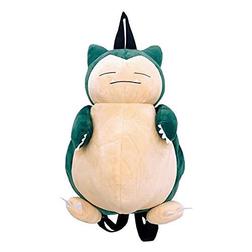 Dibujos Animados Pokemon Juguetes De Peluche Snorlax Bean Bag Mochila De Felpa 28 * 36 * 23Cm,Adorable Bolso De Hombro Multifunción para Niña, Regalos para Niños