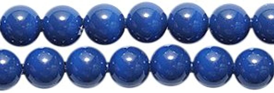 Swarovski 5810 Crystal Round Pearl Beads, 4mm, Dark Lapis, 50-Pack