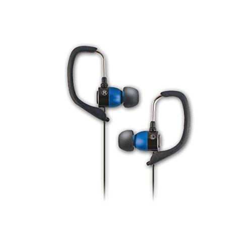 Forever Sport koptelefoon met microfoon, sporthoofdtelefoon joggen, in-ear hoofdtelefoon voor smartphone, speler, blauw
