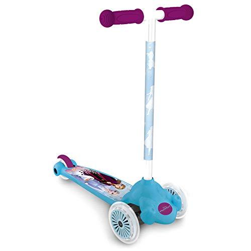 Mondo Toys - Monopattino 3 ruote - Twist & Roll Frozen - freno di sicurezza posteriore - rosa/azzurro - 28300