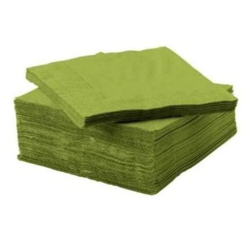 IKEA FANTASTISK - servilleta de papel, verde medio / paquete 50 - 24x24 cm