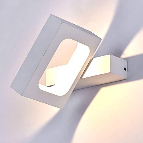 HAOFU 10W LED Lampada da Parete,LED Applique da Parete Interni Decorazione per Sala Soggiorno Corridoio,3000k Bianco Caldo,145 * 130 * 30mm (Bianco)
