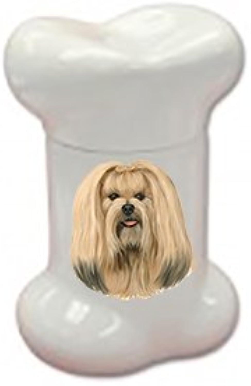 Best of Breed Lhaso Apso Doggie Bone Treat Jar