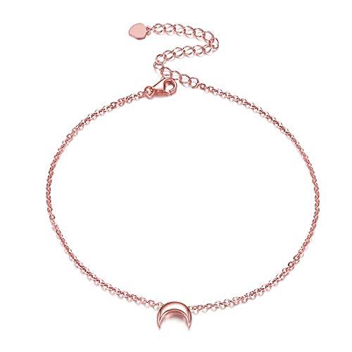 ChicSilver Rosegold Mond Armband schöne Fußkettchen Mond Schmuck für Damen und Mädchen