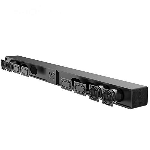 Prtukytt Barra de Sonido de Madera Ultrafina Altavoz de Cine en casa TV en casa Subwoofer de Audio 5.1 Surround 3D estéreo 4.0 Bluetooth 60W de Alta Potencia 8 Unidad de Sonido