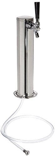 Kegco KC D4743T-SS Beer Tower, Stainless Steel