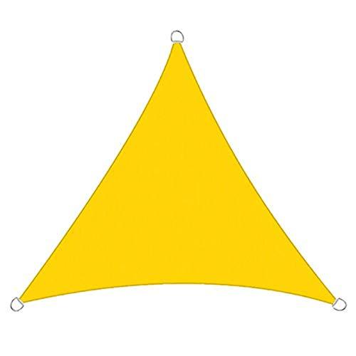 XJM Toldo Triangular De Tela Oxford De Tela, Revestimiento De PU Impermeable, 98% De Protección UV, Toldo para Terraza Al Aire Libre, Césped, Jardín (4X4X4m,H4)
