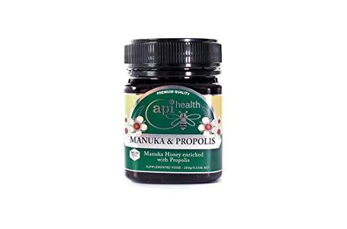 ApiHealth Manuka-Honig MGO100+ & Propoliscreme-Honig 250g - Weltneuheit für Ihre Gesundheit, Manuka-Honig angereichert mit Propolis-Extrakt