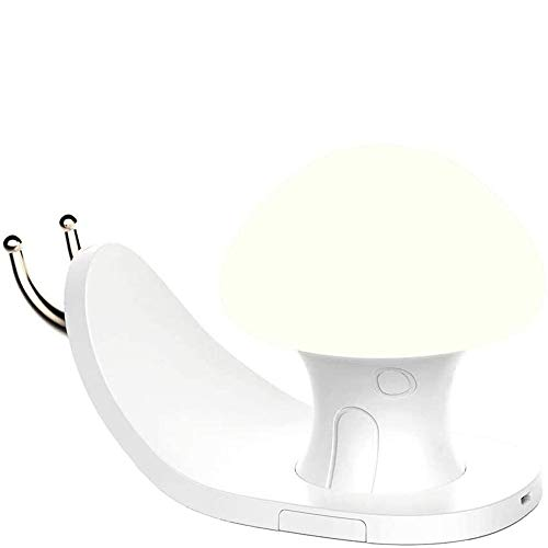 Qxinjinxtd Lamps for Bedrooms LED Rechargeable USB Night Light,Lamp with Mobile Phone Holder,Timing Table Lamp,Touch Sensor Control,Creative Snail,Easy Operation,Bedside and Table Lamps Applicable to