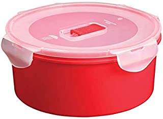 All Time Plastic 405425-45R Lock & Safe Container with Microwave Vent, Red, 1500ml
