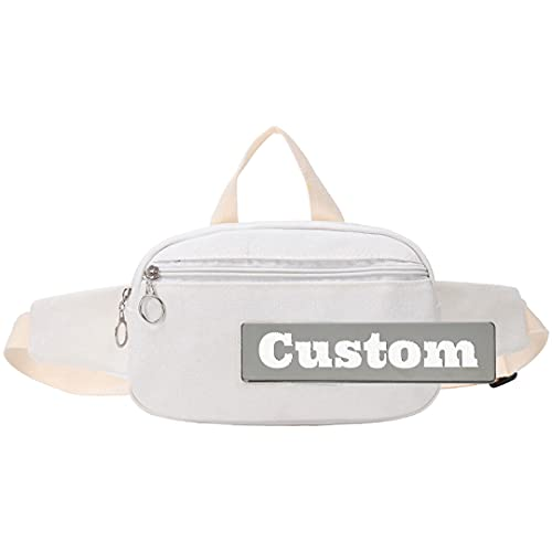 Nombre personalizado Sling Girl Bolsa de hombro Crossbody USB Sling Bag Lightweight Backpacking (Color : White, Size : One size)