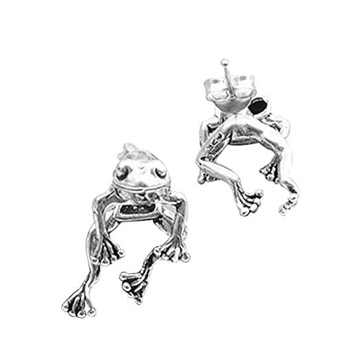 BestSiller Pendientes de rana de 2 vías, estilo retro y lindo amante de la rana, joyería colgante de animales góticos para mujer, pendientes desmontables de rana retro
