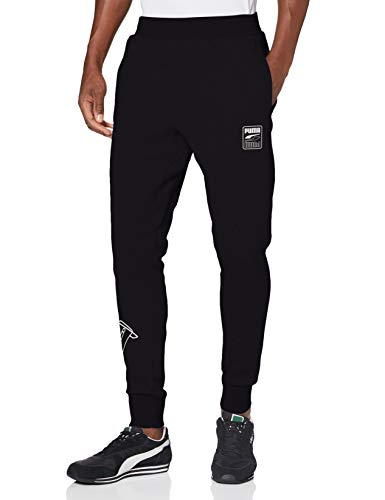 PUMA Herren Rebel Pants Bold FL cl Jogginghose, Black, M