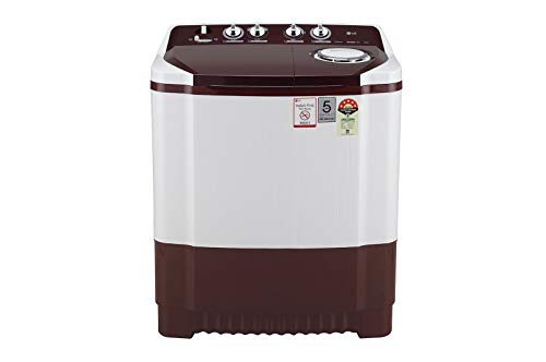 LG Wash 8Kg and Spin 6 Kg, (P8030SRAZ) 5 Star, Rust Free Body, Roller Jet Pulsator, Wind Jet Dry
