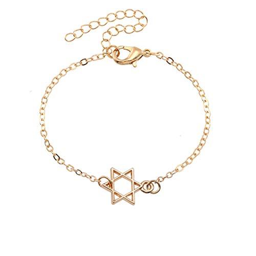 Nobrand Minimalistische Sechszackige Sterne Anhänger Armbänder Für Frauen Mädchen Jüdisches Religiöses Symbol Von David Armreifen Weibliches Schmuckgeschenk