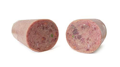 TACKENBERG Barf XL Hundefutter (Geflügel mit Lamm), 14 x 1000 g Barf Futter, Barf Fleisch Hund, Frostfleisch für Hunde