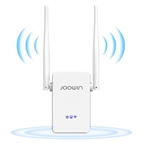 JOOWIN Ripetitore WiFi Wireless, Wireless WiFi Extender 300Mbps Single Band 2.4GHz Amplificatore di WiFi con WPS Impostare, Modalità Ripetitore Router AP, Ethernet Porta, 2Antennes