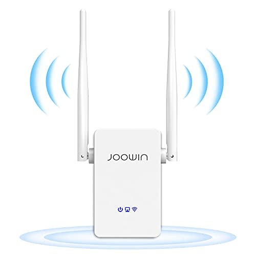 JOOWIN 300Mbps WiFi Booster Range Extender WiFi Repeater 2.4GHz Dual External Antennas Wireless AP Router Repeater Mode Boosting WiFi Coverage(WPS-Function/Ethernet Port)