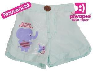 Piwapee - Piwapee short de bain fille avec couche integree elephant 14-17 kg