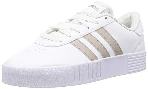adidas Court Bold, Zapatillas de Deporte Mujer, Ftwbla Metpla Ftwbla, 39 1/3 EU
