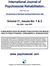 International Journal of Psychosocial Rehabilitation - Volume 11