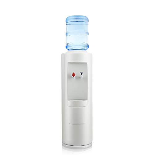 SANHOYA Water Cooler Dispenser, 4 Liter Cold Tank with Compressor Cooling, Original Tomlinson Water Faucet, Holds 3-5 Gallon Bottle with Cold & Hot Water, Double Child Safety for Home Office
