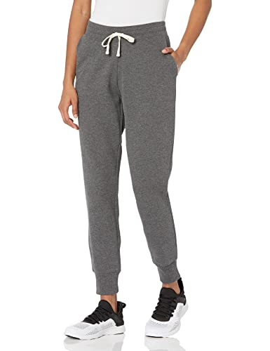 Amazon Essentials Women's Relaxed Fit Fleece Jogger Sweatpant, charcoal heather, Large