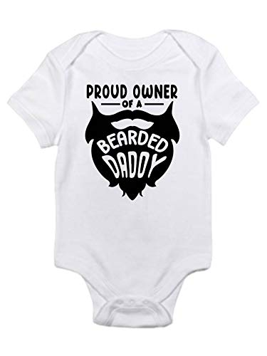 Beard Directly managed store Dad Bearded cute baby funny Sales for sale bodys onesie shirt gerber